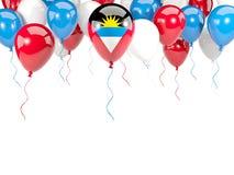 Drapeau de l'Antigua et du Barbuda sur des ballons Photo libre de droits
