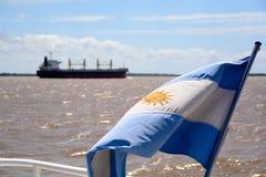 Drapeau de l'Argentine, photos stock