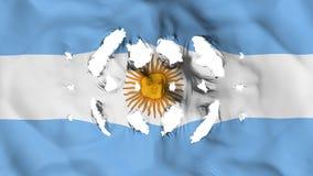 Drapeau de l'Argentine avec petits trous illustration stock