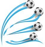Drapeau de l'Argentine réglé avec du ballon de football illustration libre de droits