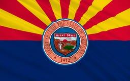 Drapeau de l'Arizona, Etats-Unis illustration de vecteur