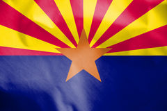 Drapeau de l'Arizona, Etats-Unis illustration stock