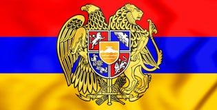 Drapeau de l'Arménie illustration 3D Photographie stock