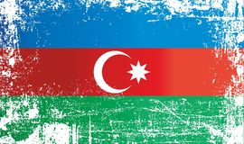 Drapeau de l'Azerbaïdjan, taches sales froissées illustration libre de droits