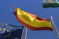Drapeau de l'Espagne déchirée Photographie stock