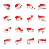 Drapeau de l'Indonésie, illustration de vecteur sur un fond blanc illustration libre de droits