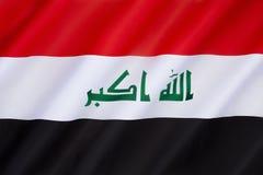 Drapeau de l'Irak Image stock