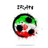 Drapeau de l'Iran comme ballon de football abstrait Photo libre de droits