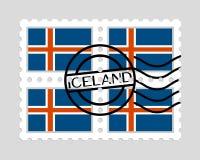 Drapeau de l'Islande sur des timbres-poste Image libre de droits