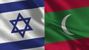Drapeau de l'Israël et des Maldives - deux drapeaux ensemble photographie stock