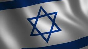 Drapeau de l'Israël ondulant 3d abrégez le fond Animation de boucle