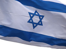 Drapeau de l'Israël sur le fond blanc Photos libres de droits