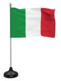 Drapeau de l'Italie avec le mât de drapeau Image stock