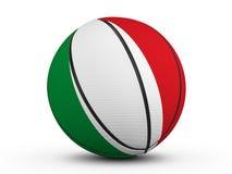 Drapeau de l'Italie de boule de basket-ball Photographie stock libre de droits