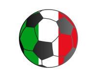 Drapeau de l'Italie et du ballon de football Photographie stock