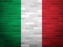 Drapeau de l'Italie de mur de briques illustration libre de droits