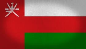 Drapeau de l'Oman illustration stock