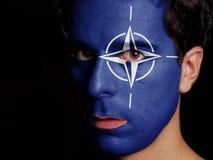 Drapeau de l'OTAN Photo libre de droits