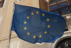 Drapeau de l'Union européenne (UE) photos stock