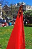 Drapeau de l'Union Soviétique et ruban de George Photo libre de droits