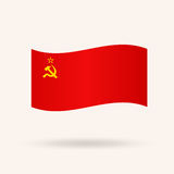Drapeau de l'URSS Indicateur de l'Union Soviétique Images libres de droits