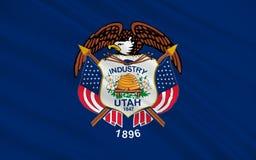 Drapeau de l'Utah, Etats-Unis illustration stock