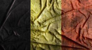 Drapeau de la Belgique chiffonné par grunge rendu 3d Photographie stock
