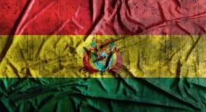Drapeau de la Bolivie chiffonné par grunge rendu 3d Photo libre de droits