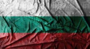 Drapeau de la Bulgarie chiffonné par grunge rendu 3d Image stock