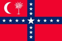 Drapeau de la Caroline du Sud, Etats-Unis illustration stock