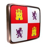 Drapeau de la Castille Leon Community illustration libre de droits