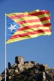 Drapeau de la Catalogne Photographie stock