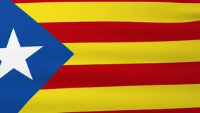 Drapeau de la Catalogne ondulant sur le vent banque de vidéos