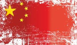 Drapeau de la Chine, république populaire de Chine Taches sales froissées illustration libre de droits