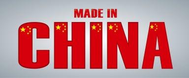 Drapeau de la Chine sous forme de lettres Image stock