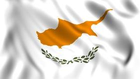 Drapeau de la Chypre ondulant dans le vent illustration de vecteur