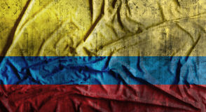 Drapeau de la Colombie chiffonné par grunge rendu 3d Image stock