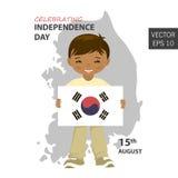 Drapeau de la Corée du Sud dans la taille, la proportion et la couleur correctes L'indicateur national de la Corée du Sud illustration de vecteur