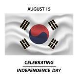 Drapeau de la Corée du Sud dans la taille, la proportion et la couleur correctes L'indicateur national de la Corée du Sud illustration libre de droits