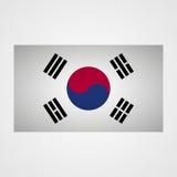 Drapeau de la Corée du Sud sur un fond gris Illustration de vecteur illustration de vecteur