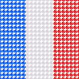 Drapeau de la France faite de LED. Images stock