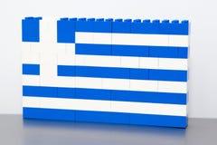 Drapeau de la Grèce Photo stock