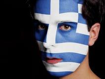 Drapeau de la Grèce Photographie stock libre de droits