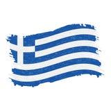 Drapeau de la Grèce, course abstraite grunge de brosse d'isolement sur un fond blanc Illustration de vecteur illustration libre de droits