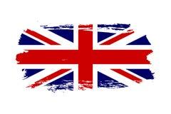 Drapeau de la Grande-Bretagne Fond blanc d'isolement par drapeau grunge BRITANNIQUE de Jack Conception anglaise du Royaume-Uni Re illustration de vecteur
