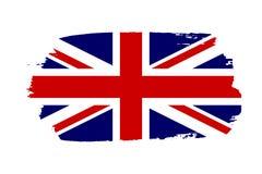 Drapeau de la Grande-Bretagne Fond blanc d'isolement par drapeau grunge BRITANNIQUE de Jack Conception anglaise du Royaume-Uni Re illustration stock