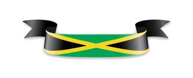 Drapeau de la Jamaïque sous forme de ruban de vague Image libre de droits