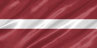 Drapeau de la Lettonie photos stock