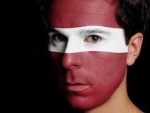 Drapeau de la Lettonie Photo libre de droits