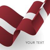 Drapeau de la Lettonie Conception patriotique Vecteur Photo libre de droits